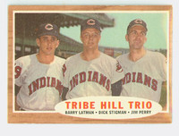 1962 Topps Baseball 37 Tribe Hill Trio Cleveland Indians Excellent