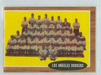1962 Topps Baseball 43 Dodgers Team Very Good