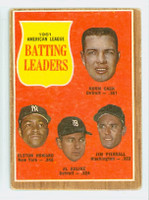1962 Topps Baseball 51 AL Batting Ldrs Good to Very Good