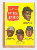 1962 Topps Baseball 52 NL Batting Ldrs Very Good