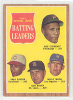 1962 Topps Baseball 52 NL Batting Ldrs Excellent to Mint