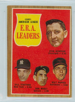 1962 Topps Baseball 55 AL ERA Ldrs Very Good