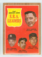 1962 Topps Baseball 55 AL ERA Ldrs Very Good to Excellent