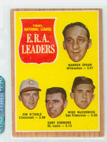 1962 Topps Baseball 56 NL ERA Ldrs Very Good to Excellent