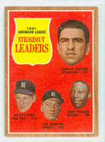 1962 Topps Baseball 59 AL Strikeout Ldrs Very Good