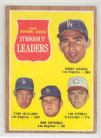 1962 Topps Baseball 60 NL Strikeout Ldrs Excellent to Mint