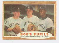 1962 Topps Baseball 72 Bobs Pupils Detroit Tigers Excellent