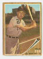 1962 Topps Baseball 73 Nellie Fox Chicago White Sox Good to Very Good
