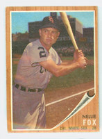 1962 Topps Baseball 73 Nellie Fox Chicago White Sox Very Good