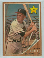 1962 Topps Baseball 76 Howie Bedell Milwaukee Braves Excellent to Mint