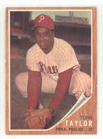 1962 Topps Baseball 77 Tony Taylor Philadelphia Phillies Near-Mint