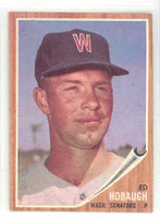 1962 Topps Baseball 79 Ed Hobaugh Washington Senators Near-Mint