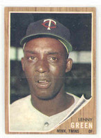 1962 Topps Baseball 84 Lenny Green Minnesota Twins Near-Mint Plus