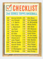 1962 Topps Baseball 98 Checklist Two Excellent