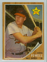 1962 Topps Baseball 99 Boog Powell ROOKIE Baltimore Orioles Excellent to Excellent Plus