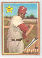 1962 Topps Baseball 104 Ted Savage Philadelphia Phillies Near-Mint