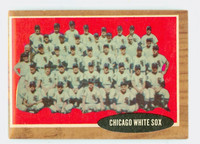 1962 Topps Baseball 113 White Sox Team Excellent