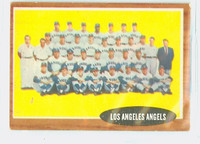 1962 Topps Baseball 132 b Angels Team NO INSET  Good to Very Good