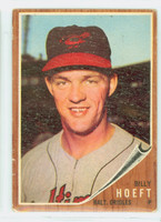 1962 Topps Baseball 134 b Billy Hoeft BLUE SKY  Baltimore Orioles Good to Very Good