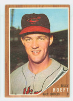 1962 Topps Baseball 134 b Billy Hoeft BLUE SKY  Baltimore Orioles Excellent