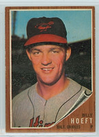 1962 Topps Baseball 134 b Billy Hoeft BLUE SKY  Baltimore Orioles Excellent to Mint