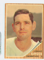 1962 Topps Baseball 151 Johnny Klippstein Cincinnati Reds Very Good Green