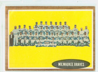 1962 Topps Baseball 158 Braves Team Very Good to Excellent