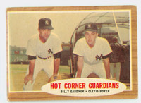 1962 Topps Baseball 163 Hot Corner Guardians New York Yankees Good to Very Good