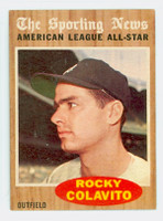 1962 Topps Baseball 472 Rocky Colavito AS Detroit Tigers Excellent to Mint