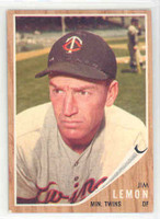 1962 Topps Baseball 510 Jim Lemon Minnesota Twins Near-Mint