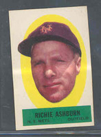 1963 Topps Peel-offs 3 Richie Ashburn New York Mets Near-Mint