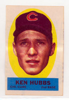 1963 Topps Peel-offs 19 Ken Hubbs Chicago Cubs Near-Mint