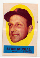 1963 Topps Peel-offs 30 Stan Musial St. Louis Cardinals Excellent to Mint