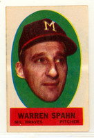1963 Topps Peel-offs 41 Warren Spahn Milwaukee Braves Near-Mint Plus