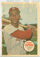 1967 Topps Pin-ups 9 Orlando Cepeda St. Louis Cardinals Near-Mint