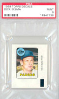 1969 Topps Decals 39 Dick Selma San Diego Padres PSA 9 Mint