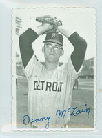 1969 Topps Deckles 8 Denny McLain Detroit Tigers Excellent to Mint