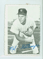 1969 Topps Deckles 13 Mel Stottlemyre New York Yankees Very Good to Excellent