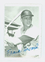 1969 Topps Deckles 16 Frank Howard Washington Senators Excellent