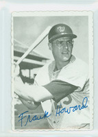 1969 Topps Deckles 16 Frank Howard Washington Senators Excellent to Excellent Plus