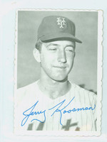 1969 Topps Deckles 25 Jerry Koosman New York Mets Very Good to Excellent