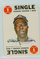 1968 Topps Game 4 Hank Aaron Atlanta Braves Near-Mint Plus