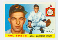 1955 Topps Baseball 8 Hal W. Smith Baltimore Orioles Excellent to Excellent Plus