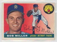 1955 Topps Baseball 9 Bob G Miller Detroit Tigers Excellent to Excellent Plus