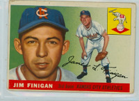1955 Topps Baseball 14 Jim Finigan Kansas City Athletics Good to Very Good