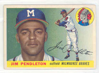 1955 Topps Baseball 15 Jim Pendleton Milwaukee Braves Excellent