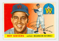 1955 Topps Baseball 16 Roy Sievers Washington Senators Good to Very Good
