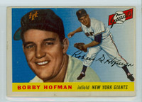 1955 Topps Baseball 17 Bobby Hofman New York Giants Very Good