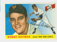 1955 Topps Baseball 17 Bobby Hofman New York Giants Excellent