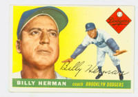 1955 Topps Baseball 19 Billy Herman Brooklyn Dodgers Excellent to Mint